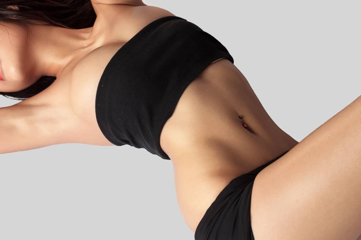 Woman enjoying the benefits of body contouring.